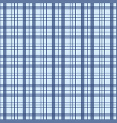 Checked seamless pattern in blue and white a vector