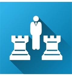 Chess Strategy Gradient Square Icon vector image vector image