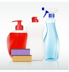 Containers with detergent vector