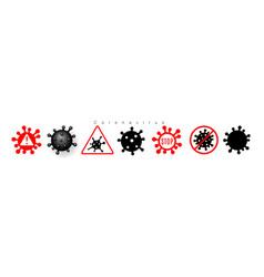 coronavirus 2019-ncov corona virus icons warning vector image