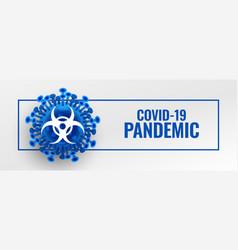 Coronavirus pandemic outbreak banner with vector