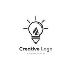 creative bulb logo smart idea logo vector image