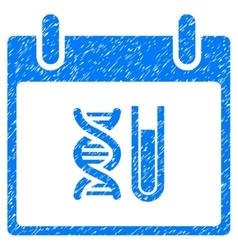 DNA Analysis Calendar Day Grainy Texture Icon vector