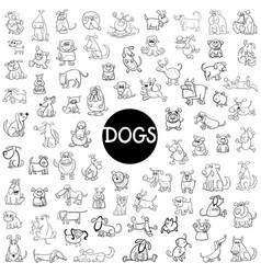 dog characters big set vector image