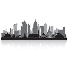 Doha qatar city skyline silhouette vector