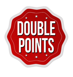 Double points label or sticker vector