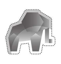 elephant low poly style vector image