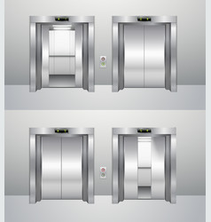 Elevator closed and open vector