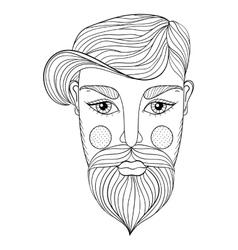 Entangle portrait man face vector