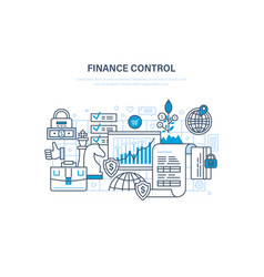 Finance control analysis and market research vector