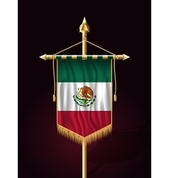 Flag of Mexico Vertical Festive Banner vector