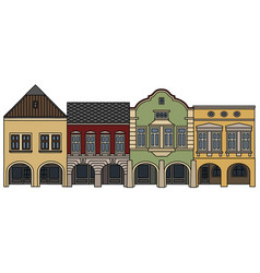 Four historical burger houses vector