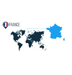 France location modern map for infographics all vector