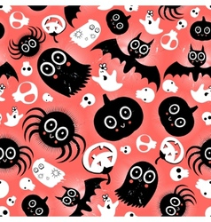 Funny halloween monster pattern vector