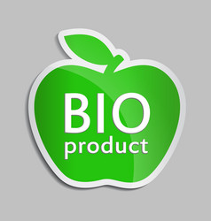 green apple bio logo vector image
