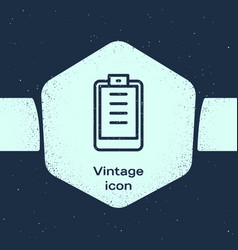 grunge line clipboard with checklist icon isolated vector image