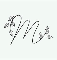 Handwritten letter m monogram or logo brand vector