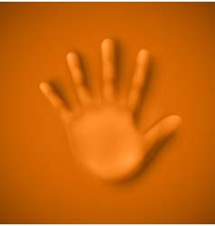 Human palm vector image