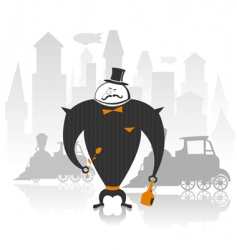 Illustration of robot gentleman vector