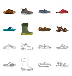 Isolated object of shoe and footwear logo vector