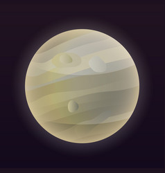Jupiter planet icon isometric style vector