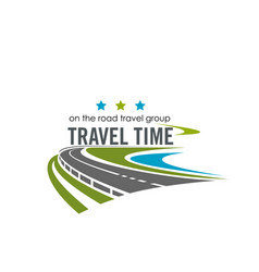 Label for travel company vector
