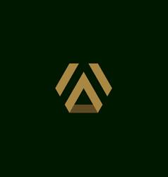 Letter a initial symbol logo design vector