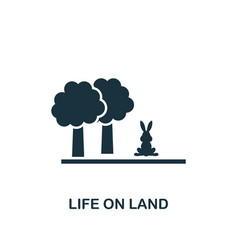 Life on land icon creative element design from vector