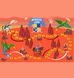 Medieval party game map vector