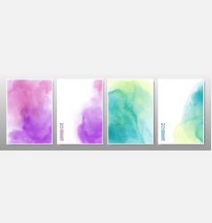 Mixed multicolor watercolor background vector