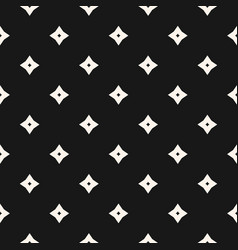 monochrome geometric seamless pattern with stars vector image