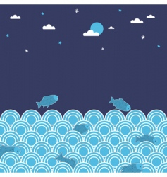 night swimming vector image