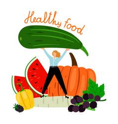 organic healthy food concept vector image