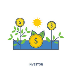 organization to invest for profit vector image
