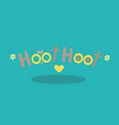 Owl hoot yellow 15 vector