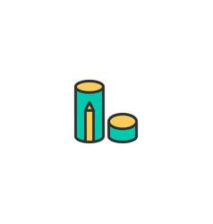 pencil box icon design stationery icon design vector image
