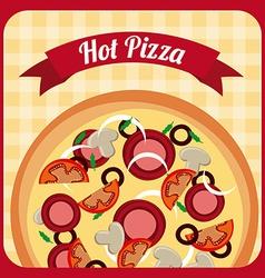 pizza design vector image