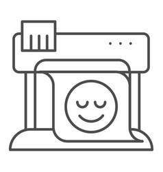 Plotter thin line icon large format printer vector