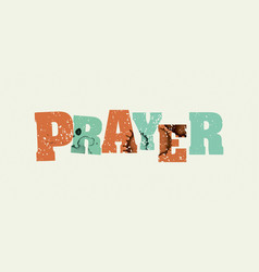 Prayer concept stamped word art vector