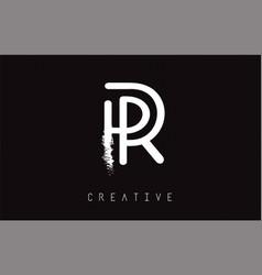 r monogram letter logo design brush paint stroke vector image