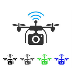 Radio camera drone flat icon vector