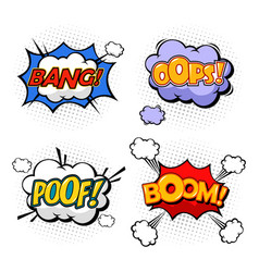 replicas in form of clouds bubble speeches vector image