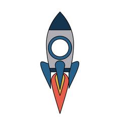 Rocket start up symbol vector