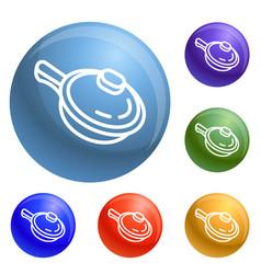 sauce pan icons set vector image