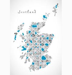 Scotland map crystal style artwork vector