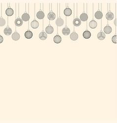 Seamless border made of christmas ball toy vector