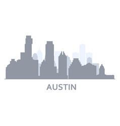 Silhouette austin city texas - skyline of vector