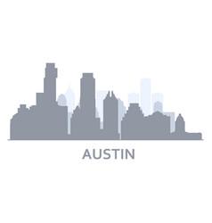 Silhouette austin city texas - skyline vector