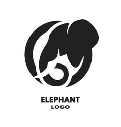 Silhouette of the elephant logo vector