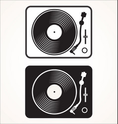simple black and white turntable vector image